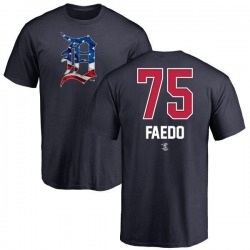 Men's Alex Faedo Detroit Tigers Name and Number Banner Wave T-Shirt - Navy