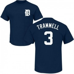 Youth Alan Trammell Detroit Tigers Roster Name & Number T-Shirt - Navy