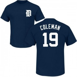 Youth Louis Coleman Detroit Tigers Roster Name & Number T-Shirt - Navy